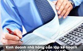 Lập kế hoạch tài chính khi kinh doanh nhà hàng